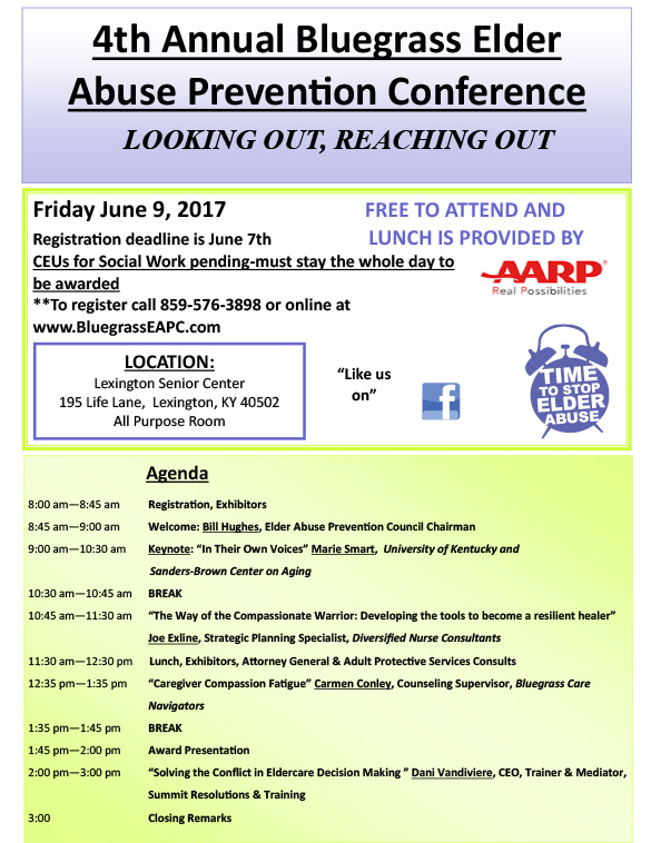 2017 Bluegrass Elder Abuse Council Conference
