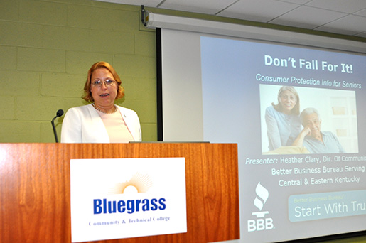 Heather Clary, Director of Communications with the Better Business Bureau of Lexington